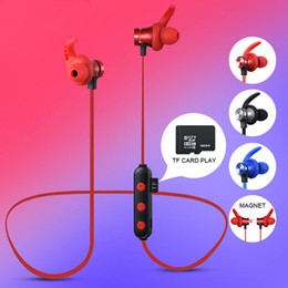 $enCountryForm.capitalKeyWord Australia - New Arrival Blutooth MP3 Wireless Sports Stereo Hang neck Earphone Magnetic Headphone Can Insert TF Card