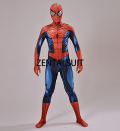 $enCountryForm.capitalKeyWord Australia - suit requirement Ultimate Spiderman Costume 3D Shade Spandex Cosplay Halloween Spider-man Superhero Costume 2016 Newest Fullbody Zentai Suit