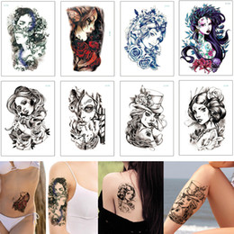 87830fb52 Beauty Woman Body Tattoo Mermaid Ancient Cool Smoking Girl Geisha Designs  Waterproof Temporary Tattoo Sticker for Female Male Arm Leg Sleeve