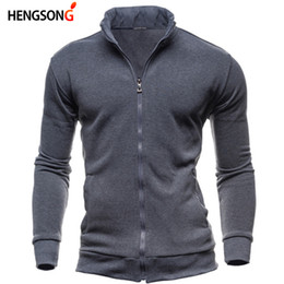 plus summer outerwear UK - HENGSONG Spring Summer Mens Fashion Outerwear Windbreaker Men' S Thin Jackets Casual Sporting Coat Plus Size 905793