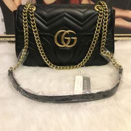 $enCountryForm.capitalKeyWord Australia - High Quality Famous brand designer Shoulder bag Pu leather Fashion chain bag Cross body Pure color Female women's handbag shoulder bag
