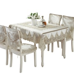 $enCountryForm.capitalKeyWord Australia - Europe Style Luxury Comfort Tablecloth Lace Edge Dustproof Covers For Table Chair Cover Home Party Table Cloths High Quality Y19062103