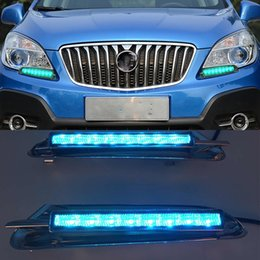 opel led lights UK - 1 Pair LED DRL Daytime Running Light For Buick Encore Opel Mokka 2012 2013 2014 2015 Driving Daylight Signal lamp Styling