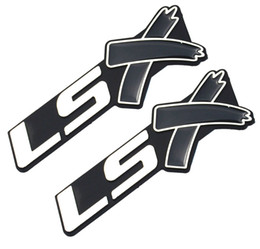 Chevy Wholesale UK - 2pcs LSX Trunk Emblems 3D Badge Decals stickers for Chevy Camaro Corvette SS Car Protection And Decoration
