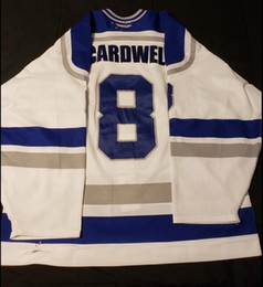 Jerseys Wolf Australia - Rare Vintage 08-09 SUDBURY WOLVES JAKE CARDWELL Hockey Jersey Embroidery Stitched Customize any number and name Jerseys