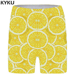 Cool Fashion Women Lady Denim Australia - wholesale Lemon Shorts Women Fruit Short Pants Cool Yellow 3d Printed Shorts Casual Sexy Ladies Shorts Womens Summer Fashion