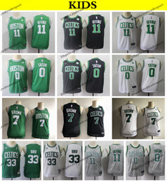 a2817ba1bce 2019 Kids #11 Boston Kyrie Irving Jayson Tatum Jaylen Brown Basketball  Jerseys Cheap Larry Bird #33 Youth Green City Stitched Shirts S-XL