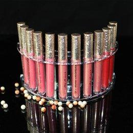 Discount 12 piece lipsticks - Transparent Lipstick Storage Box Acrylic Makeup Organizer Cosmetic Display Stand Lipstick