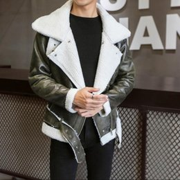 Mens Parka Leather Australia - 2019 Thick Warm Winter Stylish Mens Leather Jackets Designer Suede Bomber Jacket Parka Cool Men's Faux Fur Coat