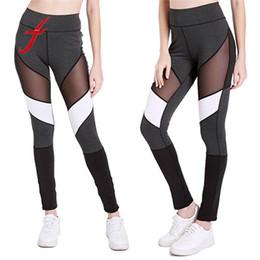 Hollow Block Wholesale Australia - Women High Waist Workout Leggings Hollow Out Patchwork Color Block Push Up Leggings Fitness Pants High Quality