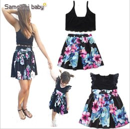 $enCountryForm.capitalKeyWord NZ - Baby Kids Clothes Girls Floral Flowers Dresses Family Matching Outfits Summer Fashion Dress Lace Ruffle Fly Sleeve Dresses Tops Skirts A4920