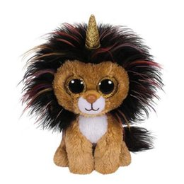 """$enCountryForm.capitalKeyWord UK - Ty Beanie Boos Ramsey the Lion With Horn Plush Regular Soft Stuffed Animal Collection Doll Toy with Heart Tag 6"""" 15cm"""