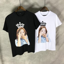 Girl Face Print Shirt Australia - Acme de la vie ADLV Baby Face T-shirt crown surprised expression girl printing baby men women Hip hop Cotton tees