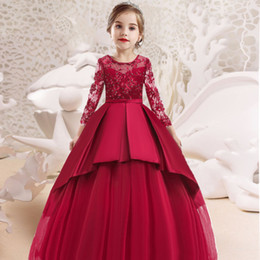 kids pageant evening dresses Australia - Elegant Flower Girls Dress for Wedding Kids Dresses for Girls Formal Clothes Evening Children Princess Party Pageant Gown Dress