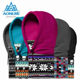 Discount cycling ear warmers - AONIJIE Outdoor 4 in 1 Winter Hats Wind Caps for Skiing Hiking Cycling Thickened Bataclave Ear Protection Warm Hat Mask