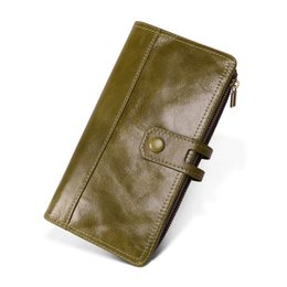 $enCountryForm.capitalKeyWord UK - High Quality Long Women PursWallet Cow Leather Lady Coin Purse Card Holder Genuine Leather Women Wallet Female Phone Pocket