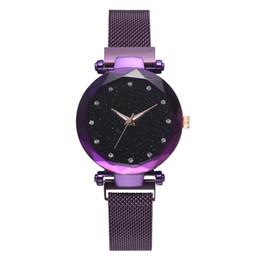 $enCountryForm.capitalKeyWord Australia - Women's Star Quartz Watch Watch Magnet Strap Alloy Luxury Quartz Round Coated Glass Dual Display Tungsten Steel