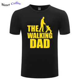 Wholesale dad shirts resale online - Brand Cotton Summer T Shirt Men The Walking Dad Print Funny Men T Shirt Fathers Tee hort Sleeve Cool Tops Plus Size