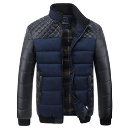 China 4XL ,New Winter Jacket Men Patchwork Warm Thick Coats Male Inside Down Cotton Parkas Mens Thermal Brand Clothing SA004 supplier jackets pockets inside suppliers