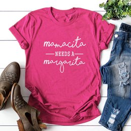 oversized tee women UK - Womens Cotton T-shirt Mamacita Needs A Margarita Print Graphic Tees Tops Woman Oversized Short Sleeve Shirts Top Female Clothes
