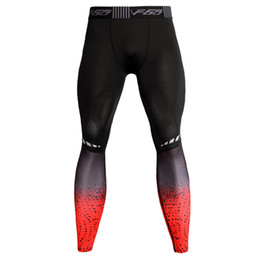 149679faffd45 Red Lycra Leggings Australia - Men's Gyms Compression Quick dry Tight Pants  Fitness Bodybuilding Leggings Male