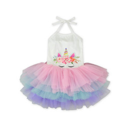 9d59c0a2f5 Summer baby girl designer clothes Unicorn Girls Dresses Princess Dresses  baby Tutu Skirt toddler girl clothes little girls clothing A3014