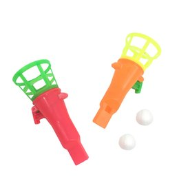 Blow Bags online shopping - Blow Pipe and Balls with Whistle Pinata Toy Party Bag Fillers Wedding Kids Outdoor Toy Interactive Rubber Balls