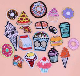 $enCountryForm.capitalKeyWord Australia - Jeans Embroidery Patch Food Funny Iron On Patches For Clothes Cheap Embroidered Patches For Kids Applique Patch Clothing F