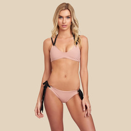 1c000b10fb6 Summer 2pcs Bikini For Women Designer Halter Sexy Solid Lady Bathing  Clothes Beach Swimwear Female Clothing