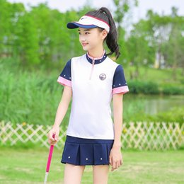 $enCountryForm.capitalKeyWord Australia - Golf Clothing Children Tshirt Golf Clothes Girls T-Shirt Short Sleeve Pleated Skirt Summer Outdoor Sports Team Uniform Set