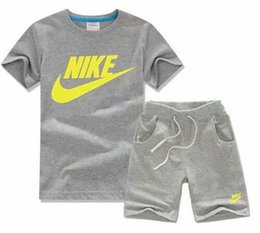 tracksuit zebra UK - Brand Kids Sets 2-7T Children T-shirts And Shorts Pants Kids Tracksuits Children Sport Suit 2 Pcs Sets