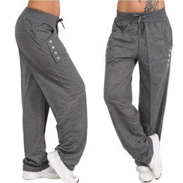 Baggy jersey pants online shopping - Women Fashion Loose Pants Casual Trousers Harem Pants S XL Drawstring Waist Baggy Pants Plus Size Women Trousers