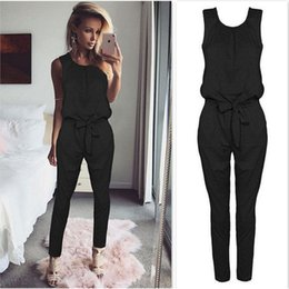4a9112fbf54 2017 Summer Rompers Womens Jumpsuit Sexy Ladies Casual Elegant Sleeveless  Long Trousers Plus Size S-XL C19010801