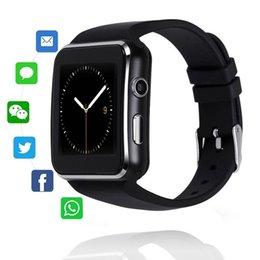 Camera Sms Australia - X6 Bluetooth Smart Watch With Camera Facebook Whatsapp Twitter Sync SMS Smartwatch Support SIM TF Card For IOS Android VS DZ09