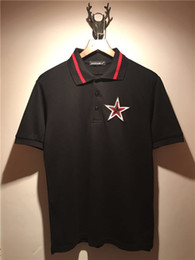 Wholesale red polo shirt for men for sale – custom 2019 Brand Clothes Mens Polo Shirt Cool Embroidery pentagram Printing Top Shirt for Male Comfort Breath Turn down Collar Men Polos