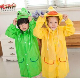 $enCountryForm.capitalKeyWord Australia - 1pcs lot children Raincoat Animal Rain Coat Rainwear Rainsuit Kids Waterproof Raincoat Children's cartoon poncho Free Shipping