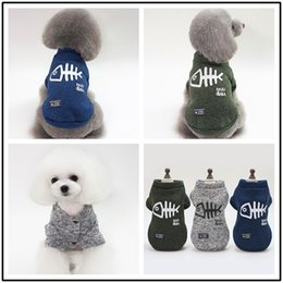 $enCountryForm.capitalKeyWord Australia - 2pcs Pet clothing pet clothes dog clothes pet fish sweatshirts sweaaters dog clothing spring and summer cool sport coat casual sexy jackets