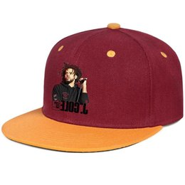 Cool Unisex Kids Hats Australia - J Cole 4 Your Eyez Only for men and women flat brim hats burgundy snapback cool kids hats sports make your own custom your own custom cute