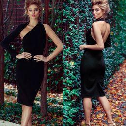 $enCountryForm.capitalKeyWord NZ - vestidos 2019 NEW spring summer dress casual bodycon One-Shoulder women dress empire solid Knee-Length party dresses femme