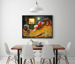 duck paintings NZ - Print DUCK Cartoon Film,HD Canvas Print Home decoration Living Room bedroom Wall pictures Art painting
