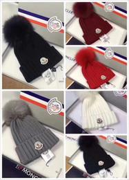 Women scarf fur online shopping - NEWEST Branded Women Winter Knit Hat Pure Virgin Wool Fox Fur Fashion Girl Soft Warm Hat