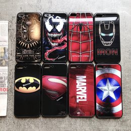 Discount avengers phone cases Marvel Avengers Super Hero phone case 6 6S 7 8 Plus Luminous for iphone X XS MAX XR
