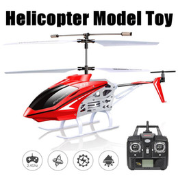 Radio Helicopter Toy Australia - 2.4GHz 3CH RC Helicopter Radio Remote Control Flying Helicopters Model Toys Outdoor Aircraft Toys Vehicles Gifts 2 Colors
