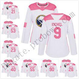 be23f7201 Pink-26 Rasmus Dahlin Personalized Mens Women Youth 9 Jack Eichel 2019 Buffalo  Sabres 53 Jeff Skinner Fashion Hockey Jerseys