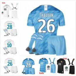 $enCountryForm.capitalKeyWord Australia - kids 19 20 Olympique de Marseille soccer jersey kids kit with socks 2019 2020 OM Marseille BALOTELLI PAYET thauvin L.gustavo football shirt