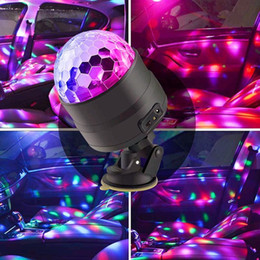 $enCountryForm.capitalKeyWord Australia - DC 5V USB Sound Control LED RGB Crystal Magic Rotating Ball Stage Light 4W Laser Car Projector Party Disco Lighting Effect Lamp