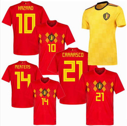 Thailand 2018 2019 World Cup Belgium Home away Soccer Jerseys LUKAKU  FELLAINI E.HAZARD KOMPANY DE BRUYNE Football Shirts 00528174a