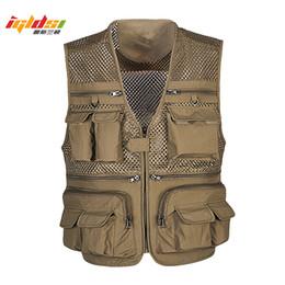 $enCountryForm.capitalKeyWord NZ - Men's Summer Photographer Waistcoat Mesh Work Sleeveless Jacket Unloading Tactical Vest Coat Fashion Tool Many Pocket Vest Male