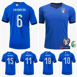 football italy NZ - Size S-XXL 2019 NEW italy Soccer Jersey 19 20 European Cup BONUCCI IMMOBILE INSIGNE CANEREVA CHIELLINI buffon Football shirts