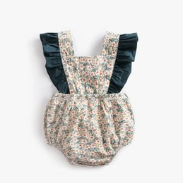 541537f866a5 2019 baby design rompers cotton floral Lotus leaf edge newborn baby girls  one-piece romper infant toddler jumper suit